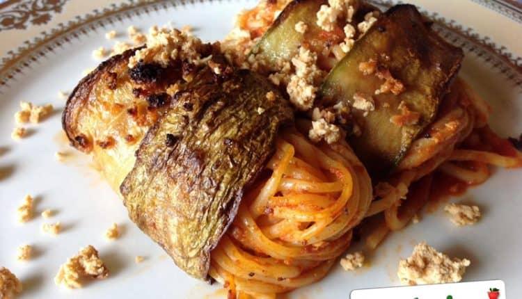 Involtini di pasta e zucchine