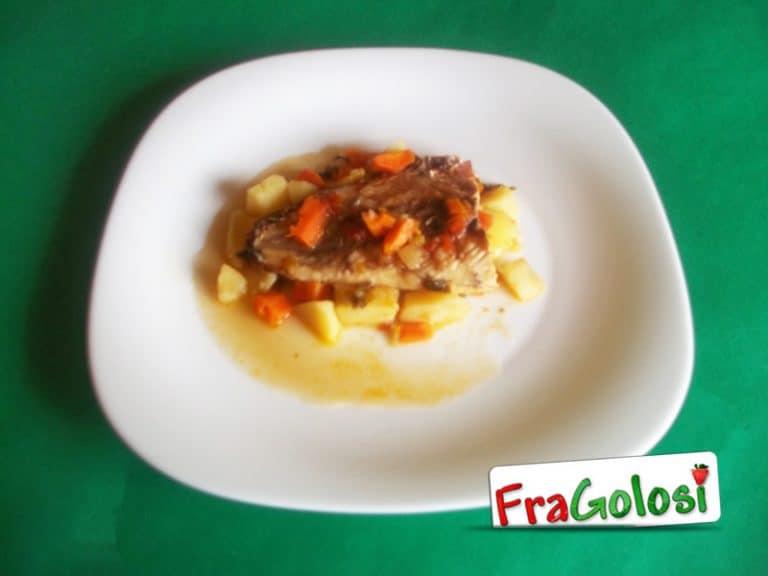 Palamito con pancetta e patate
