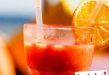 Frappe di arancia miele e noce moscata
