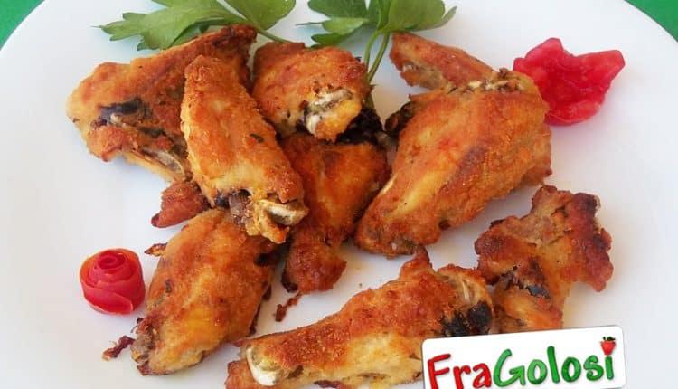 Alette di pollo impanate