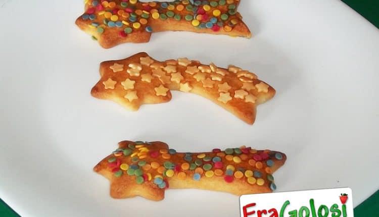 Biscotti a forma di stella cometa