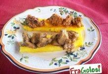 Crostini di polenta con funghi trifolati e con ragù di cinghiale