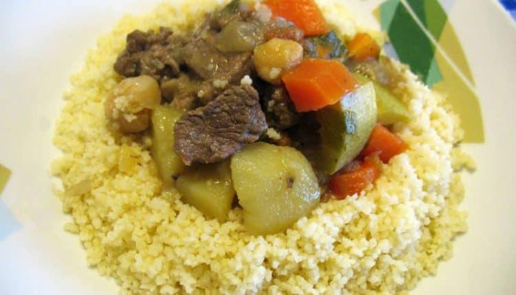 Cous cous con agnello e verdure
