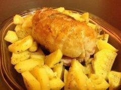 Rollè di pollo con patate