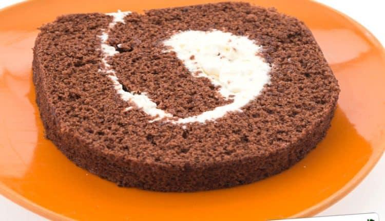 Rotolo di pane grattugiato al cacao