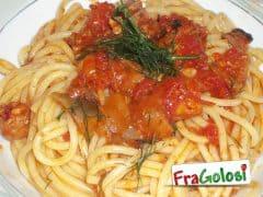 Pasta con Ragù di Pesce Spada e Melanzane
