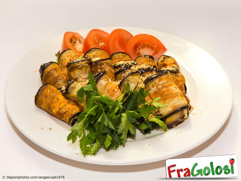 Involtini di melanzane alla Messinese