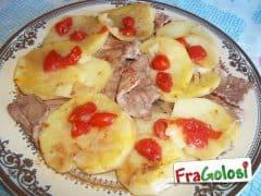 Straccetti di Carne con Pomodorini e Patate