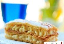 Millefoglie con crema pasticcera e mele caramellate