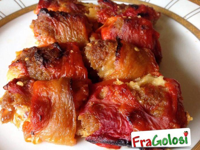 Involtini di peperoni e feta al profumo di basilico