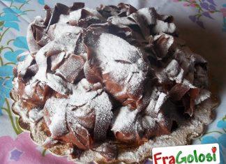 Bignè alla panna con Ganache al cioccolato