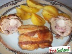 Fagottini di pollo in crosta di pancetta