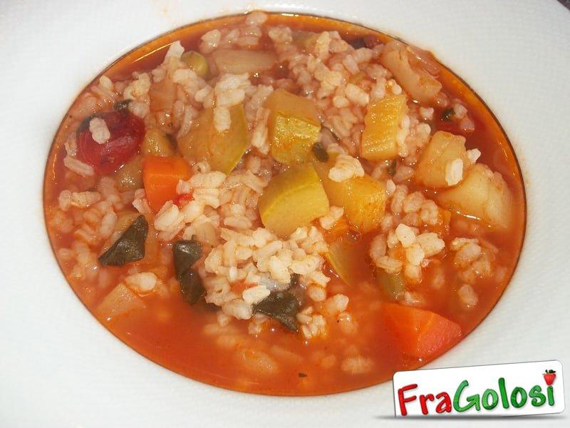 Minestra di riso con verdure dell orto ricetta di for Ricette di riso