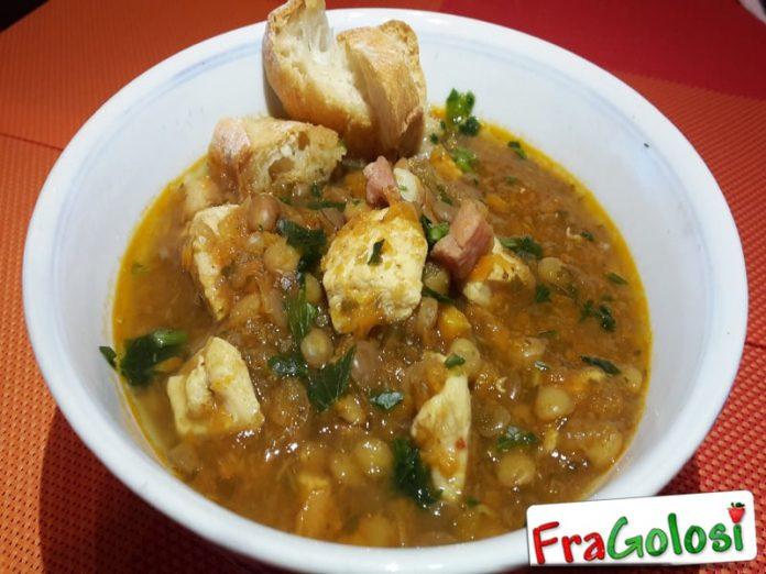 Zuppa di Lenticchie, Pollo e Pancetta