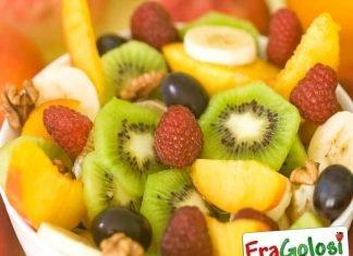 Macedonia di frutta ai lamponi