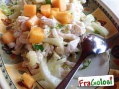 Insalata di Gamberetti, Melone e Finocchio