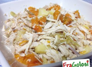 Insalata di pollo con carote
