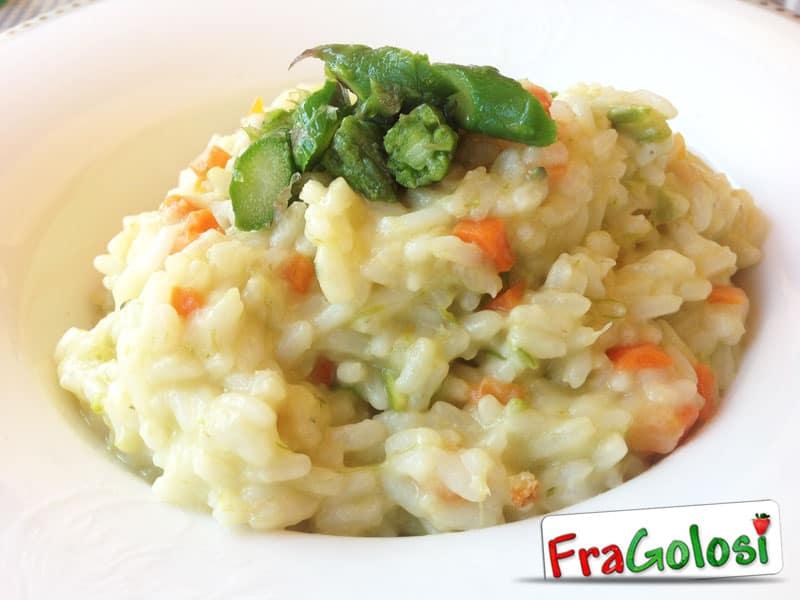 Risotto con asparagi e carote