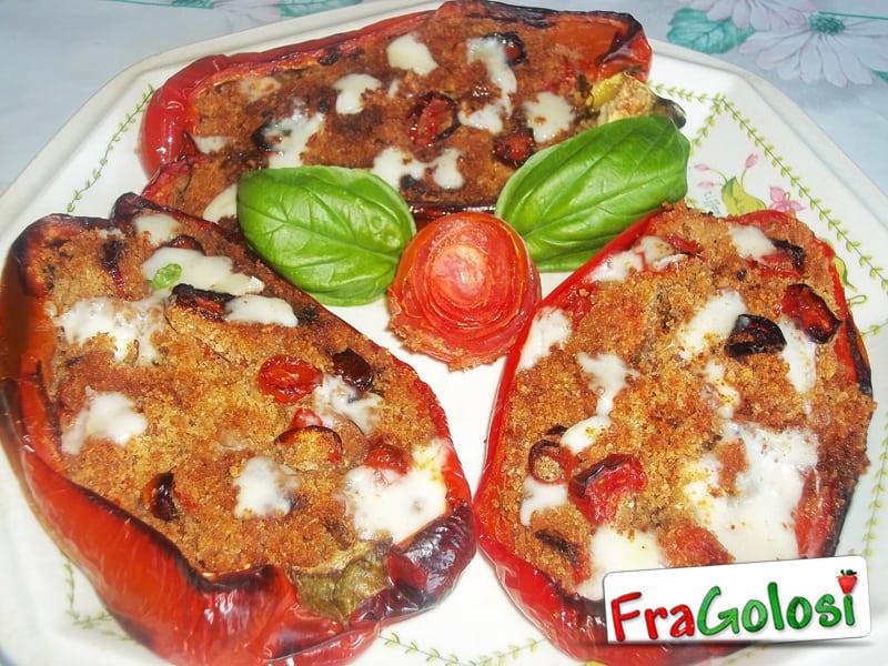 Barchette di peperoni ripieni alla siciliana