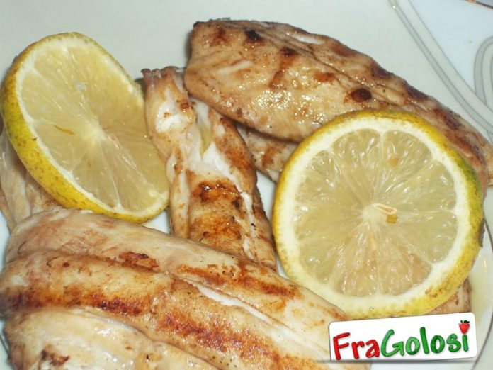 Filetti di pesce spatola grigliati