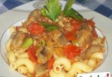 Pasta con carciofi e pomodorini freschi