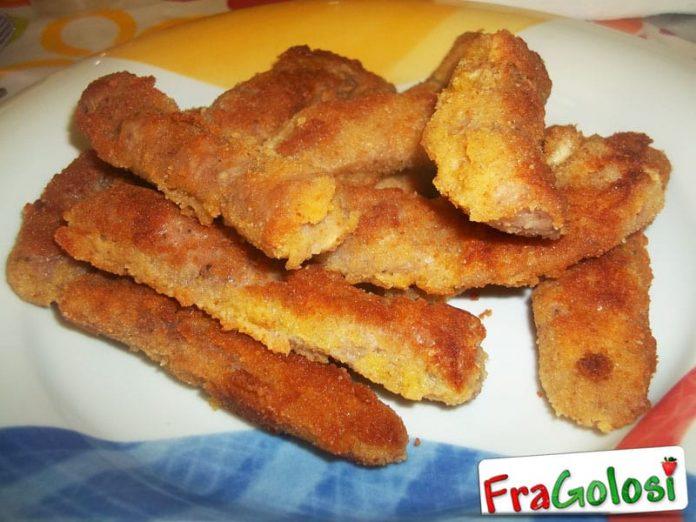 Salsiccia impanata e fritta