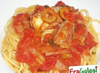 Spaghetti con la ricciola a ghiotta
