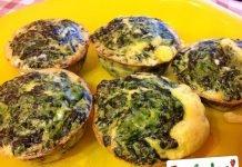 Mini sformati di uova e spinaci