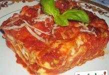 Lasagne al forno con funghi e ragù di carne