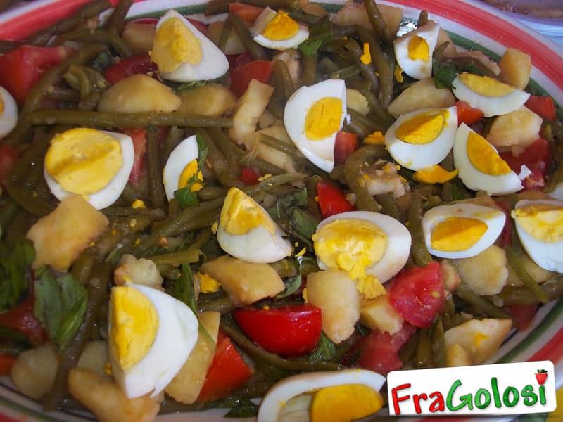 insalata di fagiolini, patate ed uova sode