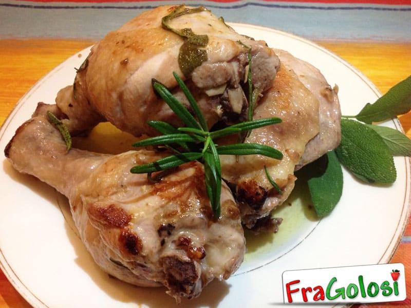 Pollo con salvia e rosmarino