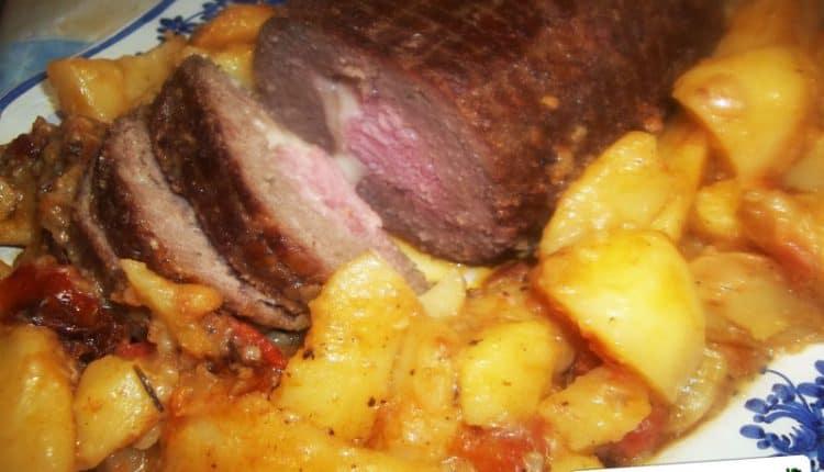 Falsomagro al forno con patate