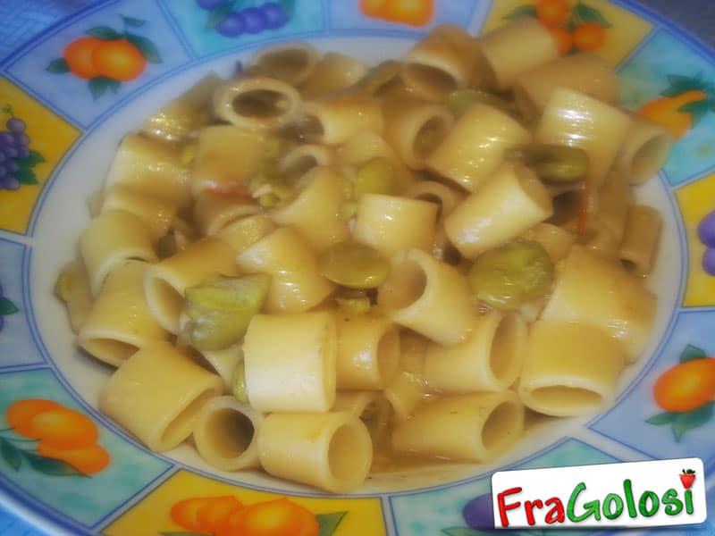 Pasta con le fave fresche alla messinese
