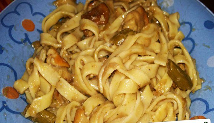 Pasta con Funghi e Asparagi Bimby