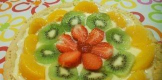 Crostata con Crema Pasticcera e Frutta Bimby
