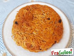 Frittata di Spaghetti al Pesto Rosso di Pomodori Secchi