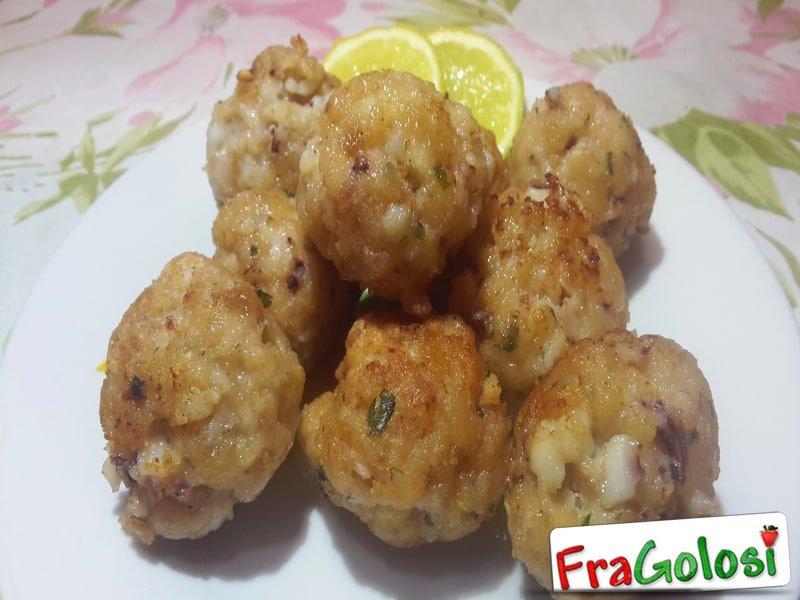 Polpette di calamari fritte