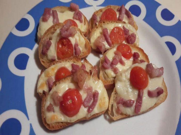 Bruschette con Pancetta