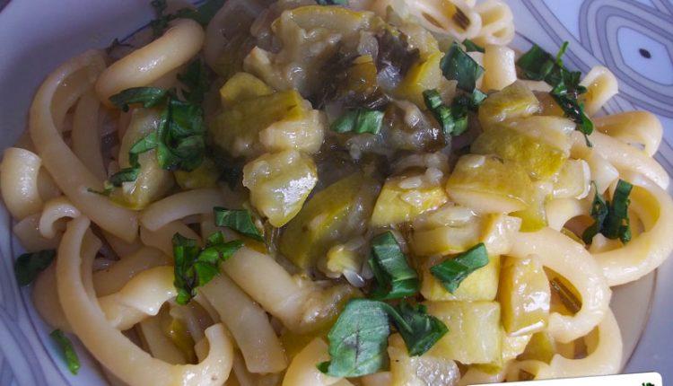 Pasta con Zucchine Stufate