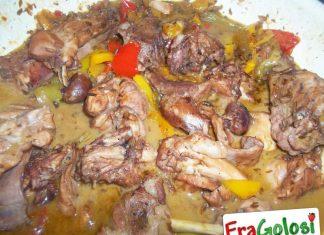 Coniglio in Umido con Peperoni