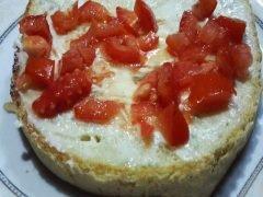 Bruschettona con Gorgonzola e Pomodoro