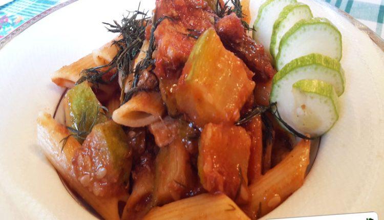 Pasta con Zucchine, Pesce Spada e Tonno