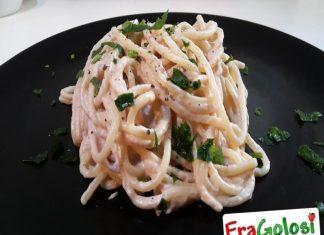 Spaghetti con Tonno e Formaggio in Crema
