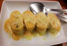 Rondelle di Pasta con Baccalà e Zucca