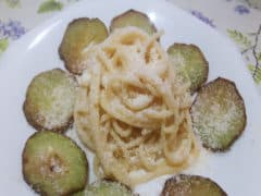 Pasta con Zucchine Spinose
