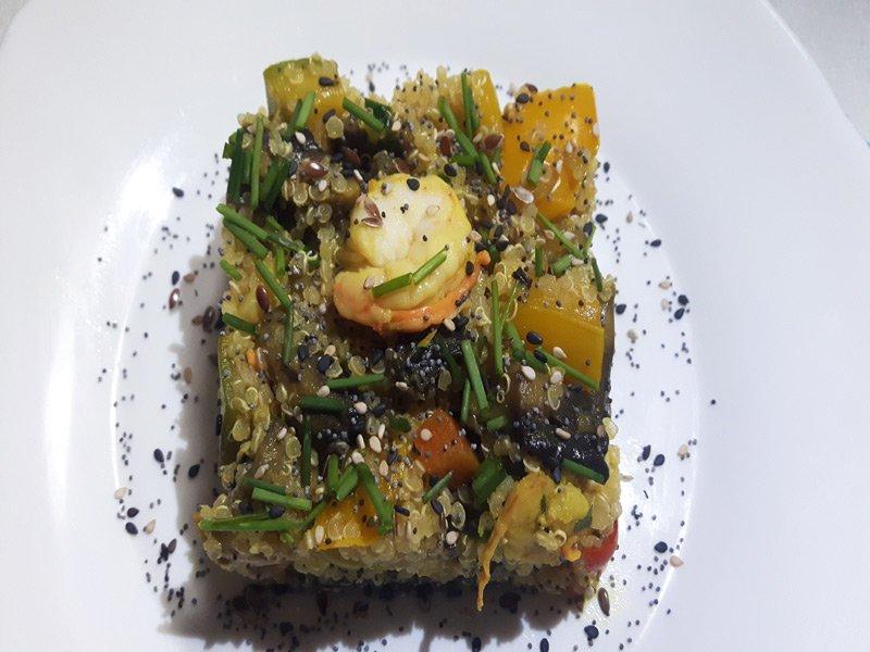 Quinoa con Verdure e Gamberetti