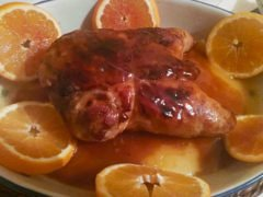 Pollo Ripieno all'Arancia