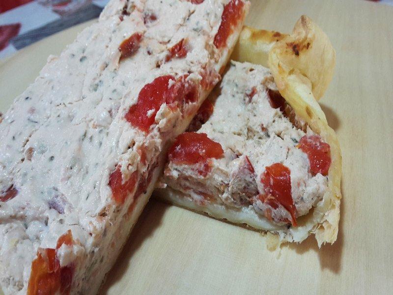 Torta Salata Tonno e Philadelphia