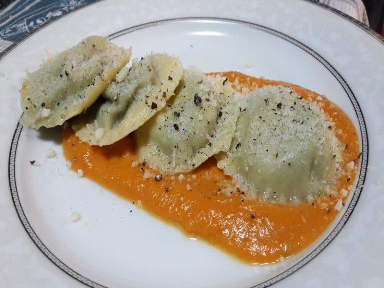 Pasta Fresca Ripiena di Broccoli e Salsiccia