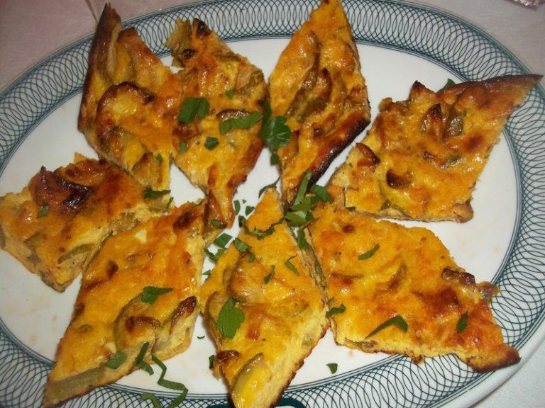 Frittata Patate e Funghi Champignon